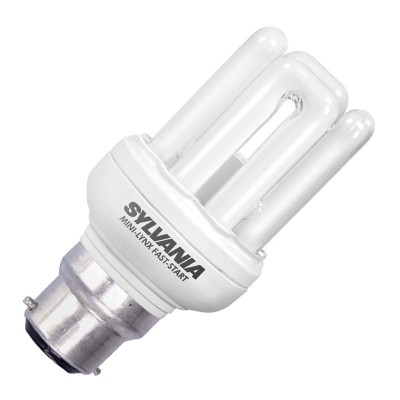 Sylvania 11w Mini Lynx Fast Start Low Energy Bayonet Cap