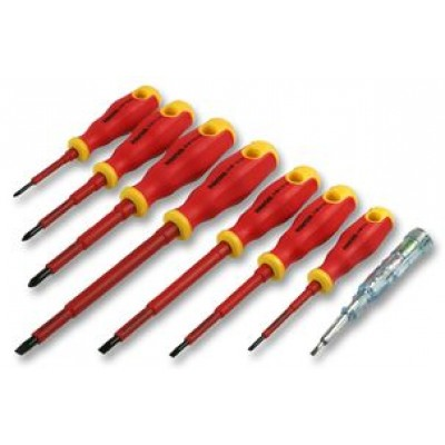 Duratool 7 Piece Screwdriver Set with Voltage Tester