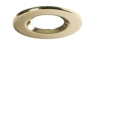 Interchangeable Bezel for Fixed Downlight Brass